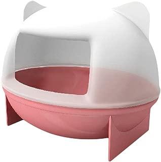 QIAONAI 可愛い  小動物用バスルーム マウス ハムスター ネズミ用 バスルーム バスケージ ボックス 浴室 遊び 砂浴び おもちゃ シャベル付き  (ピンク)