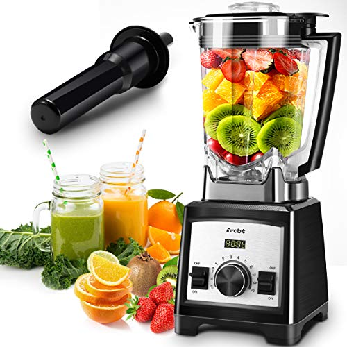 Arcbt Professional Countertop Blender for Smoothies, with 1450W Pulse & 9 Speeds Control Base, 72oz BPA Free Self Cleaning Jar, 32000RPM High Power Household Blender to Blend, Chop, Grind, Black