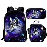 HUGS IDEA - Bolsas de almuerzo para niños Galaxy Wolf 1 Pattern Set