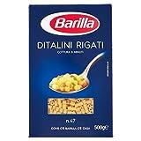 Barilla Pasta Ditalini Rigati, Pastina di Semola di Grano Duro, I...