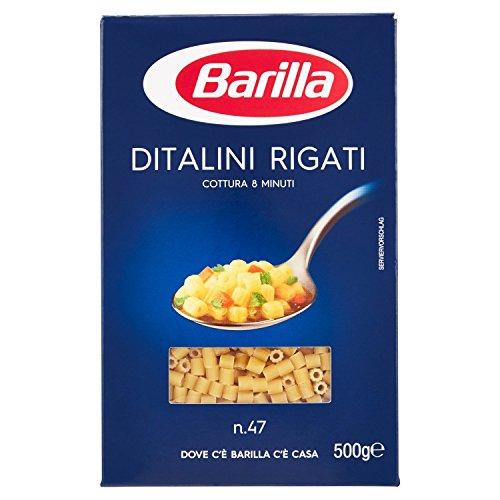 Barilla - Ditalini Rigati, Pasta Di Semola Di Grano Duro - 6 pezzi da 500 g [3 kg]