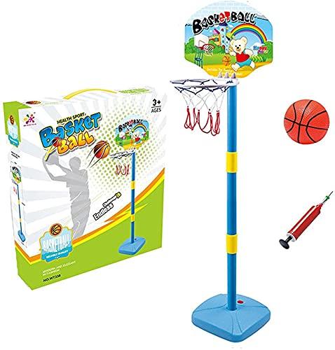 hwljxn Niños Baloncesto Hoop Standadady Sujetable Altura Interior Baloncesto Hoop al Aire Libre Juguetes interactivos para 3 años Mayores (3 años) Sports Baby Sports