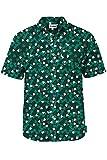 Men's Green Clover St. Paddy's Hawaiian Shirt - St. Patrick's Day Button Down Shirt for Guys