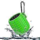 Foto Monstercube Bomb speaker bluetooth 3.0 verde chiaro, ottimo per doccia e attività all'aria aperta, 10 metri di portata Bluetooth, pratico, protetto dagli schizzi d'acqua, vivavoce portatile con microfono incorporato per agevolare le chiamate, 4 ore di riproduzione