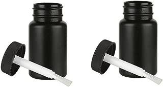 2 Empty Plastic Bottles Brush Applicator Cap Arts Craft Paint Jar Container 2oz