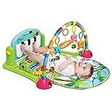 Baby Fitness Matte, Baby Fitness Spielzeug, Klavierspielzeug, Eltern Kind Erfahrung, Baby Kognition, Farberkennung, Tiererkennung, Neugeborene 6-36 Monate