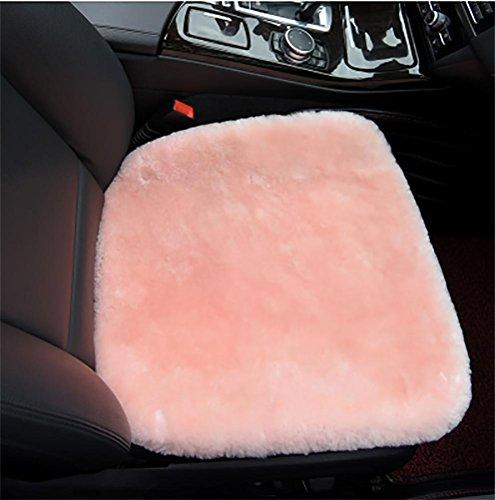 RUIRUI Schapenvacht Seat Pad?NonSlip Achterkant voor Comfort in auto, vliegtuig, kantoor of thuis