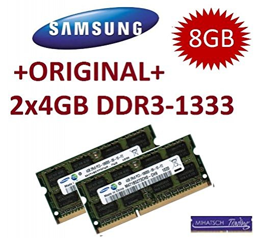 Samsung M471B5273CH0-CH9 Kit 2x 4GB DDR3-1333 (1333Mhz, 204pin, CL9, PC3-10600, SO-DIMM)