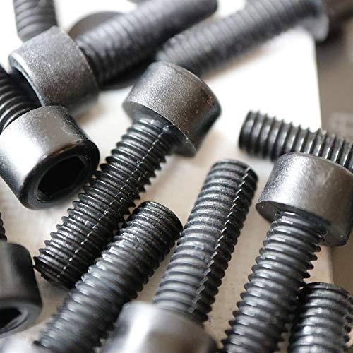 50 x Schwarze Nylon-Inbusschrauben, M6 x 20mm, Kunststoff Maschinenschrauben, Kunststoffschrauben, Muttern & Unterlegscheiben, und Innensechskantschrauben