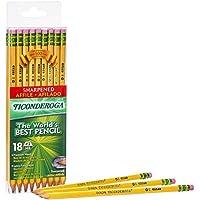 18-Pack Ticonderoga Wood-Cased, Pre-Sharpened Pencils