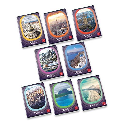 Conf. 10 pz. Maxi Quaderni A4 HELLO TRAVEL 02302954M