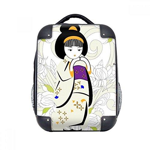 DIYthinker Modelo de Japón Kimono chica dura de la caja de transporte para hombro Niños Mochila 15' Regalo