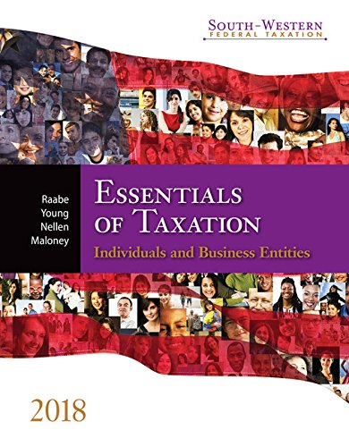 South-western Federal Taxation 2018: Essentials of Taxation: Individuals and Business Entities