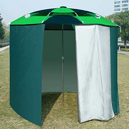YYMMQQ outdoor tent 220cm Visparaplu Outdoor Bevestiging Universele Tuin Paraplu Strand Zonnescherm Regendichte Zonnecrème Onderdak Alle Ronde Tent
