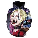 Impresión 3D Harley Quinn Joker Suicide Squad Sudaderas con Capucha Niños Cosplay Disfraz Película Sudadera con Capucha Chaquetas Hombres Mujeres Ropa-We-1342_Size_L