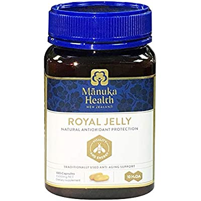 Manuka Health 10hda Royal Jelly 1000mg 180 & 365 Capsules 100% Pure Royal Jelly Immune System Booster & Supports Skin Health & Vitality