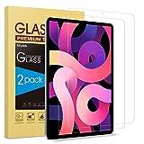 SPARIN Protector de Pantalla Compatible con iPad Air 4 2020, Cristal Templado de 10,9 Pulgadas de Alta Definición, 2 Piezas