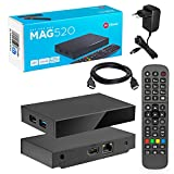 MAG 520 Original Infomir & HB-DIGITAL 4K IPTV Set TOP Box Multimedia Player Internet TV IP Receiver # 4K UHD 60FPS 2160p@60 FPS HDMI 2.0# HEVC H.256 Unterstützung # ARM Cortex-A53 + HDMI Kabel.