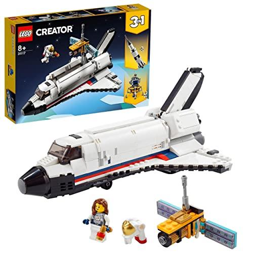 LEGO 31117 Creator 3en1 Aventura en Lanzadera Espacial, Nave Espacial de Juguete, Juegos de Construcción para Niños