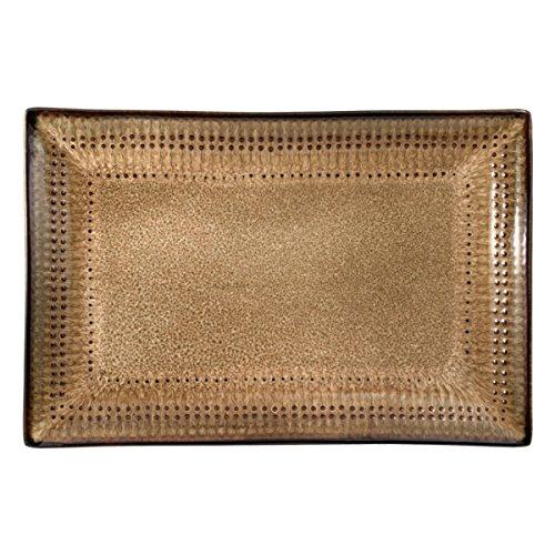 Pfaltzgraff Cambria Rectangle Platter, 14' x 9', Brown