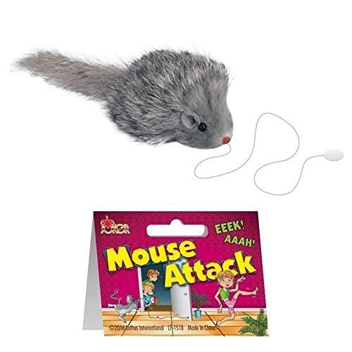 """Loftus Mouse Attack Funny Practical Joke Gag Gift, 2.5"""", Gray/White"""