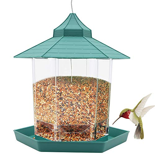 Bird Feeder, Wild Bird Seed Feeder Hanging Squirrel Proof Bird Food...