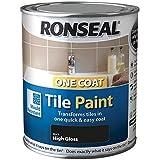 Ronseal One Coat Tile Paint Black Gloss 750ml