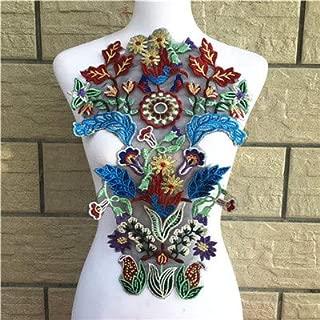 1 Pcs Embroidery Flower Lace Collar Fabric Sewing Knit Applique DIY Fringe Craft Ribbon Trim Wedding Supply Scrapbking