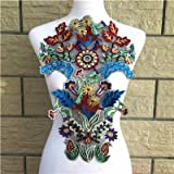 1 Pcs Embroidery Flower Lace Collar Fabric Sewing Knit Applique DIY Fringe Craft Ribbon Trim Wedding Supply Scrapbking