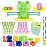 Sirecal Equilibrio Juego de matemáticas Rana Digital Educativo Montessori Juguetes Contable para Niños matemáticas básicas de Aprendizaje para niños para desarrollar Inteligencia (Verde)
