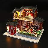 Mini Holz Puppenhaus Möbel, DIY Kleines Haus Modell Puzzle Gebäude Modell Montage, Chinesischen...