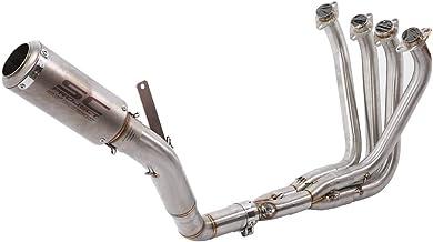 Keenso - Sistema de escape completo para moto. Colector de escape 4-1, tubo intermedio, silenciador slip-on. Tubo de escape para moto Kawasaki Z1000 (2010-2018)