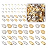 SUPERFINDINGS 380PCS 2 Colors Fishing Attractor Spinner Blades Carbon Steel DIY Spinner Blades Fishing Lures Accessories for Lure Making with Brass Links