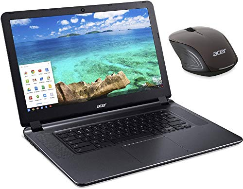 Acer Flagship CB3-532 15.6' HD Premium Chromebook - Intel Dual-Core Celeron N3060 up to 2.48GH.z, 2GB RAM, 16GB SSD, Wireless AC, HDMI, USB 3.0, Webcam, Chrome OS, Mouse (Renewed)