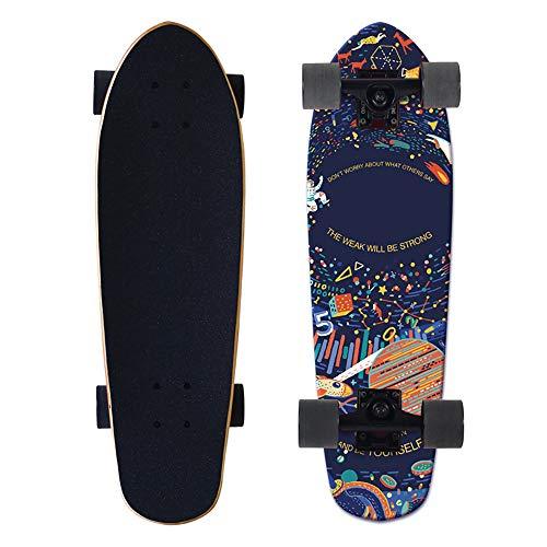 FGKING Skateboard für Kinder Erwachsene, Longboard Skateboard, 27