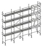Echafaudage façadier 130 m² lisses planchers ALP130
