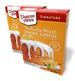 Duncan Hines Signature Orange Supreme Cake Mix 15.25oz (pack of 2)