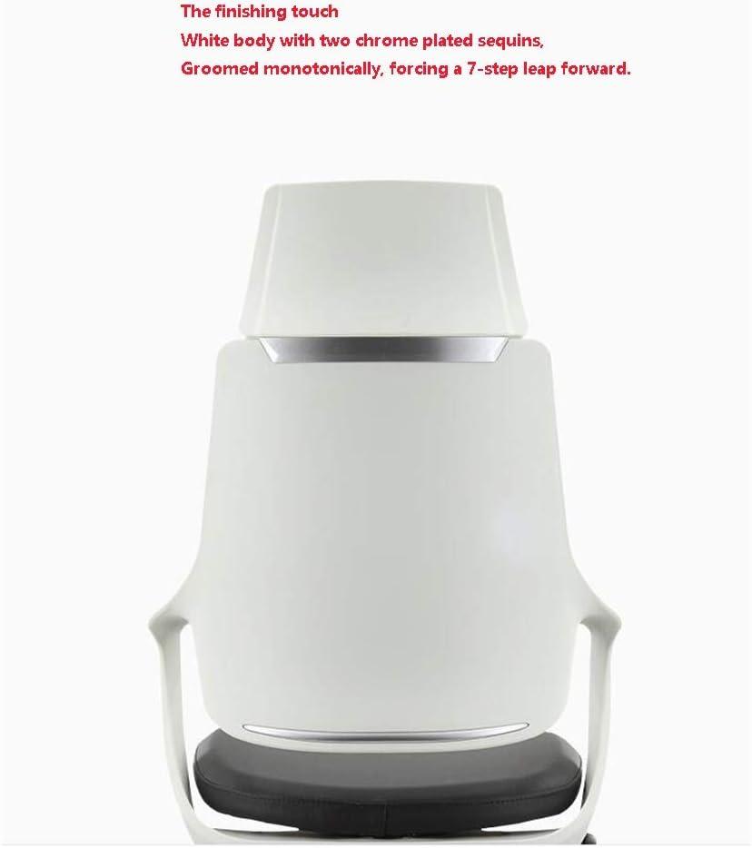 tabouret WFF Ordinateur Président Accueil Chaise Ergonomique Chaise de Bureau Chaise Patron Rotary Lift Chaise de Bureau en Cuir (Color : Black) Gray