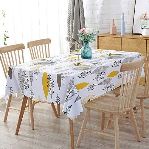N/A Jinyuan PVC wasserdichte Tischdecken Plant Pastoral Tischdecke Hintergrundtuch Plastiktischdecke Home Decor Manteles(35 Zoll 90x90cm quadratischer Tisch)