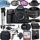 Nikon D850 DSLR Camera 45.7MP CMOS Sensor with AF FX NIKKOR 50mm f/1.8D Lens, SanDisk 128GB Memory Card, Case, Tripod, Filters and A-Cell Accessory Bundle (Black)