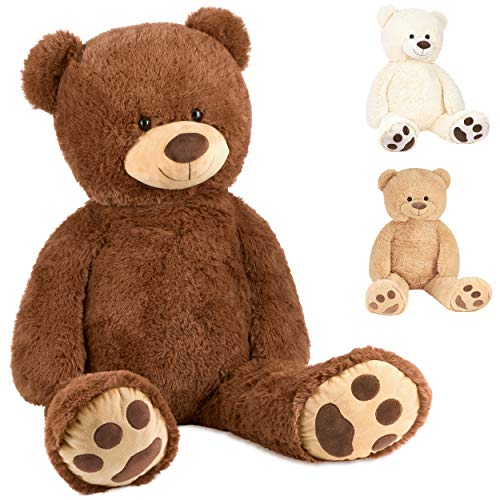 Brubaker XXL Teddybär 100 cm groß - Braun - Stofftier Plüschtier Kuscheltier