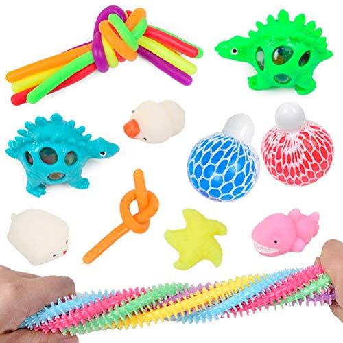 FENGLI Juego de Juguetes sensoriales de Fidget, Conjunto de Juguetes de Juguete de Fidget sensorial para niños Adolescentes y Adultos Terapia sensorial para el estrés ansiedad