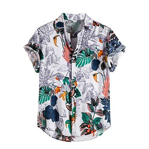Herren Hemd Hawaiihemd Baumwolle Leinen Shirt Kurzarm Button Casual Shirt 3D Gedruckt Muster Travel Beach Tshirt Strandurlaub Funky Sommer Hemden StrandHemd