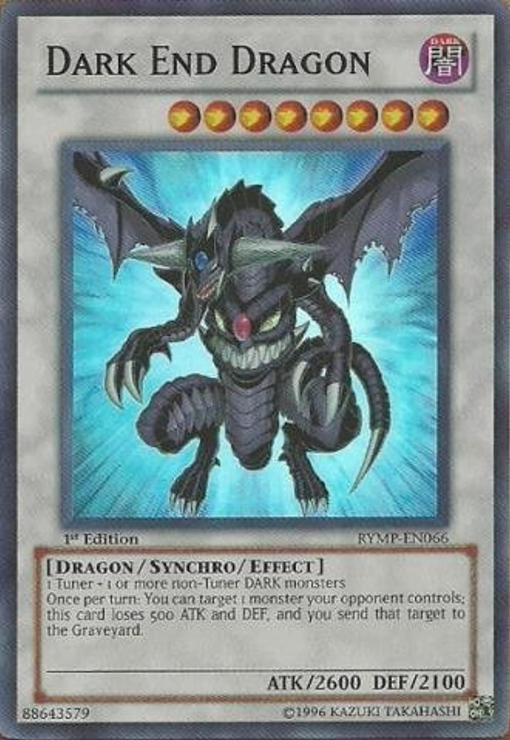 YuGiOh   Dark End Dragon (RYMPEN066)  Ra Yellow MegaPack  1st Edition  Super Rare by YuGiOh