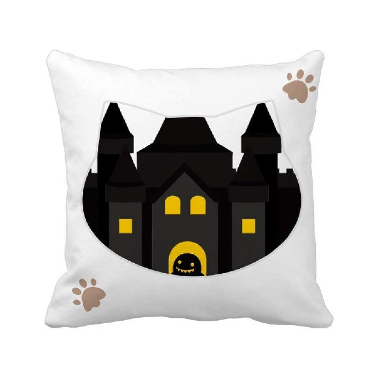 アーティファクトグリット六分儀おとぎ話の城のカラフルなイラスト 枕カバーを放り投げる猫広場 50cm x 50cm