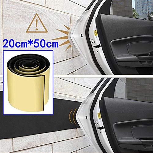 N\A Protector de adhesivo para coche, 1 rollo, protector de puerta de coche, de goma, para paragolpes, de seguridad, para estacionamiento, para puerta de coche, (color: 50 x 20 cm, 6 mm)