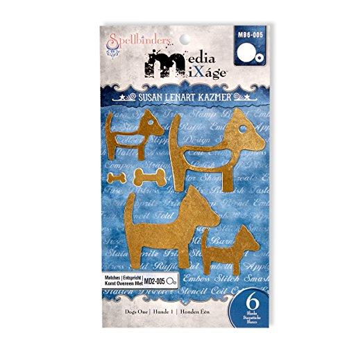Rohling Spellbinder Papier Arts honden, het sjabloon van een