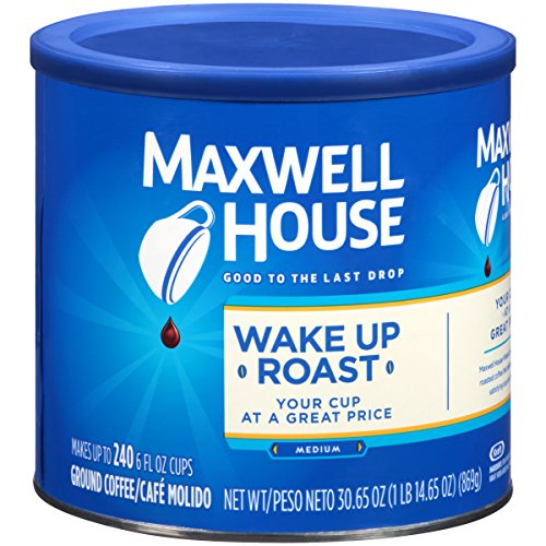 Maxwell House Wake Up Roast Medium Ground Coffee 30.65 oz Can Now $4.95