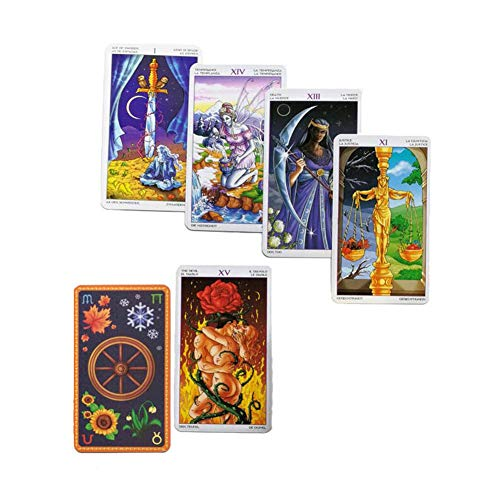 Urben Life 78 Teile/Satz Tarotkarten Set für Anfänger 78 Karten Rad des Jahres Lesen Sie Tarot des Schicksals Spielzeug in Bunten Box
