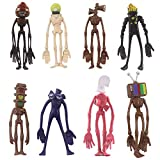 Justpe 8PCS SCP Siren Head Action Figure,Siren Head Figura PVC de Dibujos Animados,Siren Head Model...